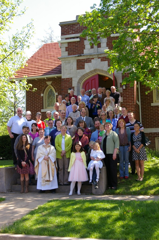 Members of Trinity Gather on Easter Sunday