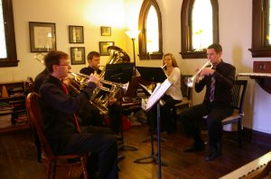 A Wind Ensemble Performs at an Easter Service
